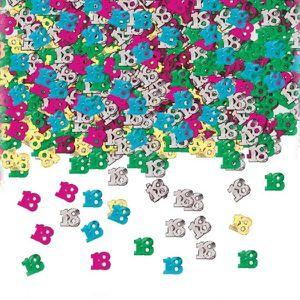 CONFETTIS Confettis de table anniversaire 18 ans