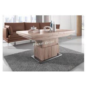 Table de salle manger 130cm extensible et volutive en for Table salle manger extensible 300 cm