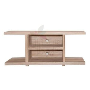 meuble tv en bois naturel achat vente meuble tv en bois naturel pas cher cdiscount. Black Bedroom Furniture Sets. Home Design Ideas