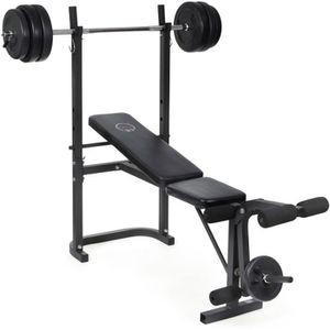 Banc de musculation avec barre et poids achat vente pas cher cdiscount - Vente poids musculation ...