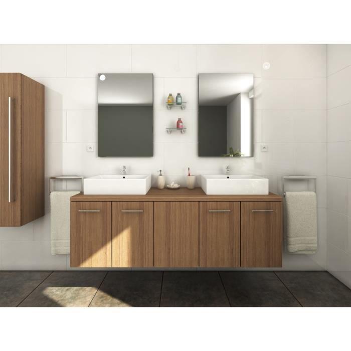 Jenny salle de bain compl te double vasque l 150 cm for Acheter salle de bain complete