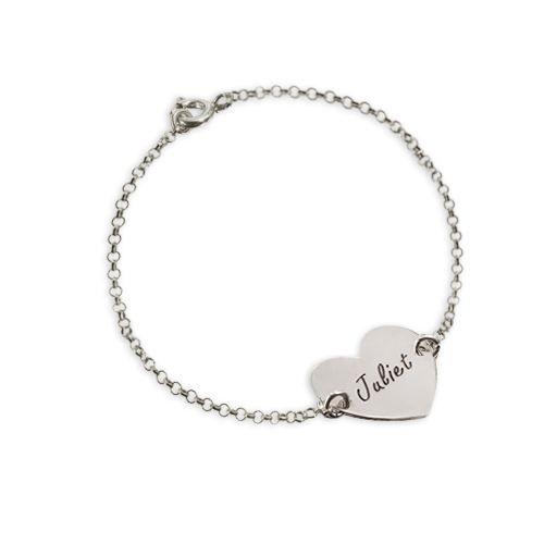 bracelet pour couple avec coeur personnalis achat vente bracelet gourmette bracelet coeur. Black Bedroom Furniture Sets. Home Design Ideas
