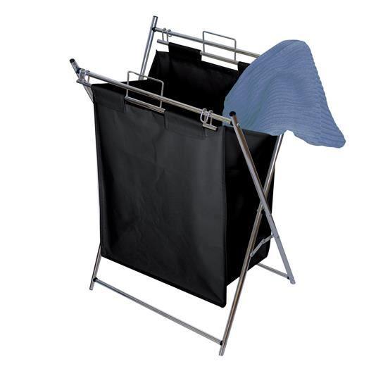 panier linge m tal pliable corbeille linge tissus m tal x x achat vente. Black Bedroom Furniture Sets. Home Design Ideas