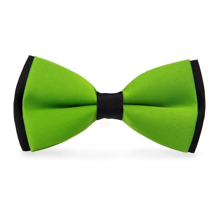 noeud papillon bicolore vert pomme et noir vert achat vente cravate n ud papillon. Black Bedroom Furniture Sets. Home Design Ideas