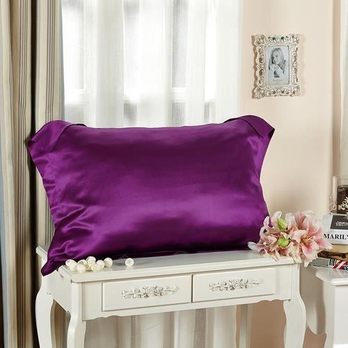 lilysilk lot de 2 taies d 39 oreillers 100 soie avec volant soie 19 momme violet 50 x 75cm achat. Black Bedroom Furniture Sets. Home Design Ideas