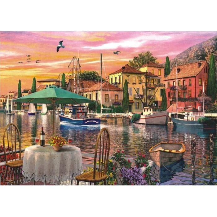Puzzle 3000 pi ces coucher de soleil sur le port achat vente puzzle cdiscount - Frais de port sur cdiscount ...