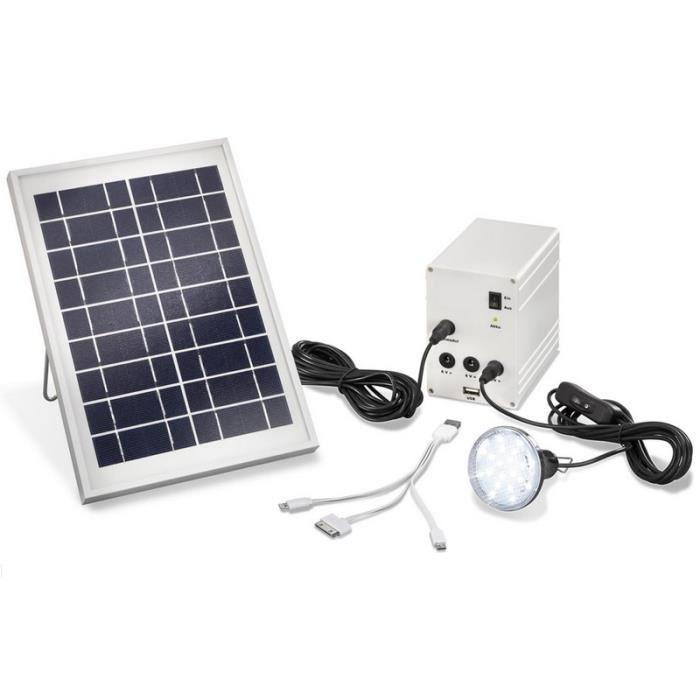 kit eclairage solaire achat vente kit eclairage solaire pas cher cdiscount. Black Bedroom Furniture Sets. Home Design Ideas