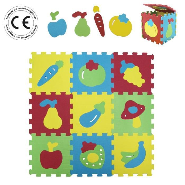Ludi Tapis Mousse Basic Fruits Achat Vente Tapis Veil Aire B B 3550839910522 Cdiscount