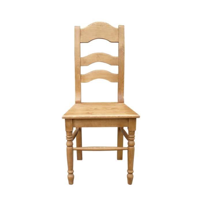Chaise en pin massif cir miel noir achat vente - Chaise en pin massif ...