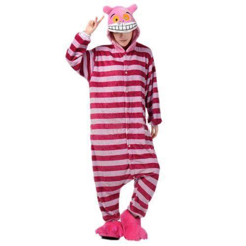 superbe kigurumi pyjama combinaison chat alice aux pays des merveilles adulte rouge rouge. Black Bedroom Furniture Sets. Home Design Ideas
