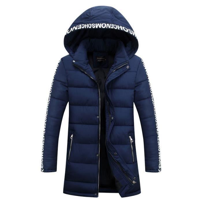 doudoune homme 2017 hiver nouveaux hommes de coton veste manteau chaud pais long paragraphe. Black Bedroom Furniture Sets. Home Design Ideas