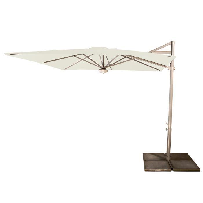 parasol d centr cielo naturel anti uv inclinable carr 260 x 260 cm achat vente parasol. Black Bedroom Furniture Sets. Home Design Ideas