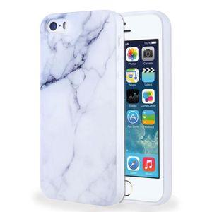 COQUE - BUMPER Coque Pour Apple Iphone 5S SE 5 marbre Motif Mince