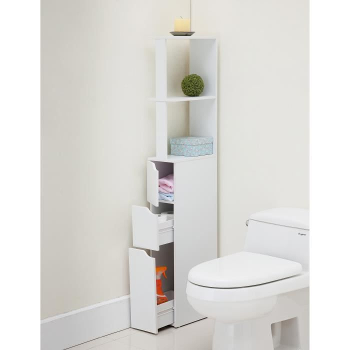 top colonne de toilette 15 cm blanc achat vente. Black Bedroom Furniture Sets. Home Design Ideas