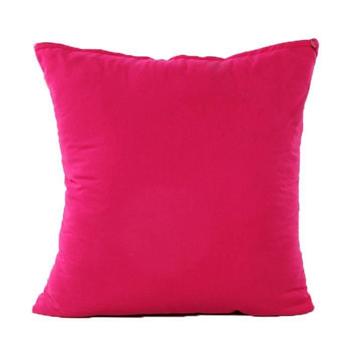 zxke taie d 39 oreiller solide couleur rose accueil d coratifs housse de cou. Black Bedroom Furniture Sets. Home Design Ideas