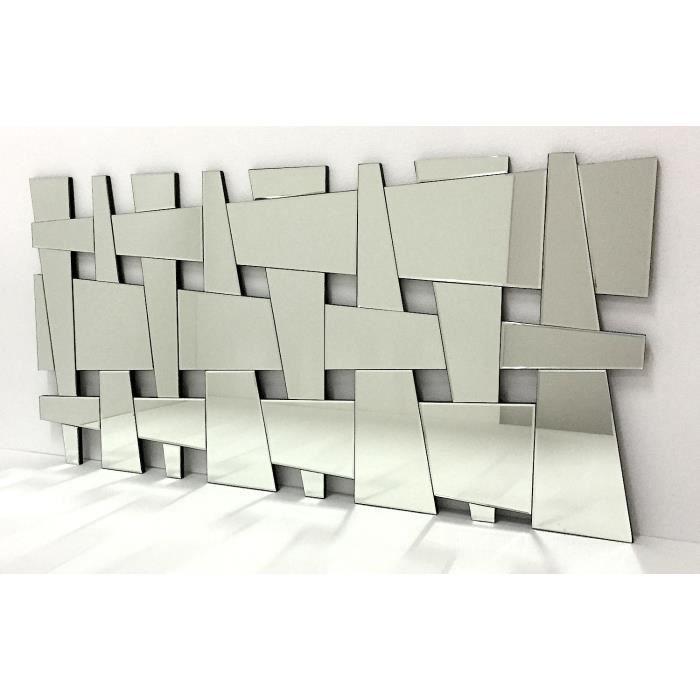 Miroir mur design moderne 140x70cm e021 achat vente for Decoration miroir mur