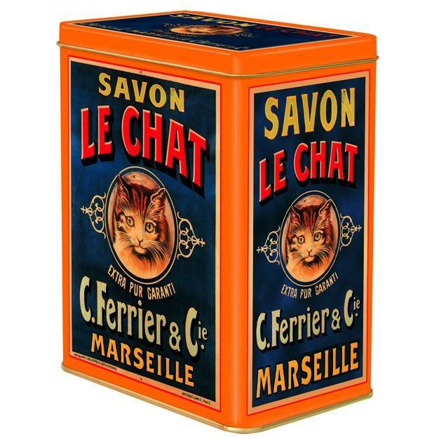 Boite Metal 12x8x15cm Pub Savon Le Chat Marseille Achat