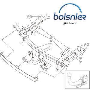 attelage rotule horizontale d montable sans outil livr complet ferrures v hicule rotule. Black Bedroom Furniture Sets. Home Design Ideas