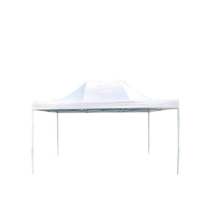 tente tonnelle pliante m dium acier 32mm blanc. Black Bedroom Furniture Sets. Home Design Ideas