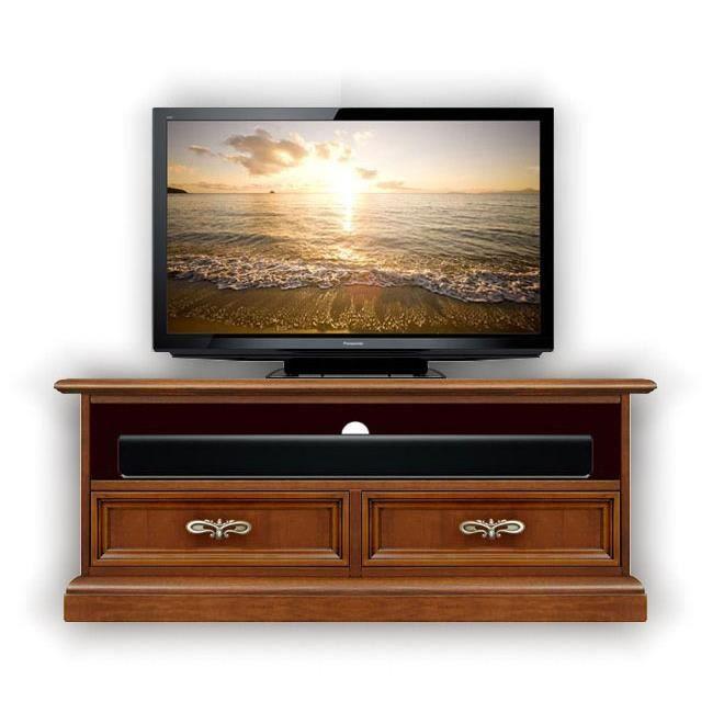 Meuble tv barre de son 2 tiroirs classique achat vente - Meuble tv avec barre de son ...