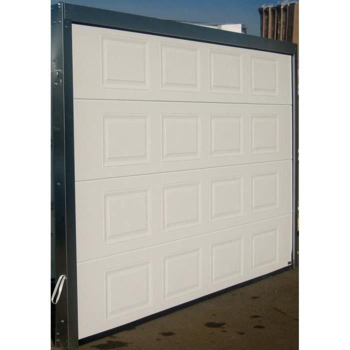 Porte de garage sectionnelle 240x200 k7 blanc achat for Porte de garage isolante sectionnelle