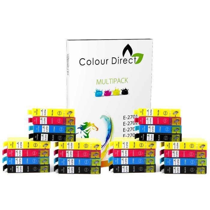 24 colourdirect cartouches d 39 encre pour epson work pource wf 3620dwf wf 3640dtwf wf 7110dtw wf. Black Bedroom Furniture Sets. Home Design Ideas