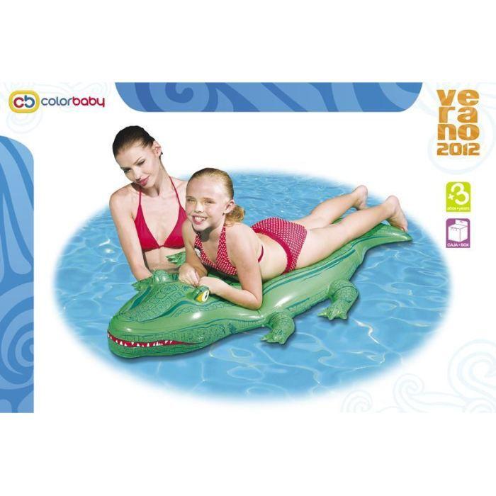 Matelas gonflable crocodile pour piscine ou plage achat - Matelas pour piscine ...