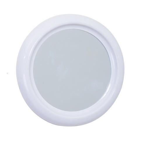 Miroir pvc rond 30cm blanc achat vente miroir salle de for Miroir blanc rond