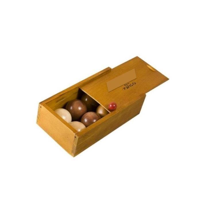 jorelle coffret jeu boules p tanque en bois achat vente b ton p e baguette soldes d. Black Bedroom Furniture Sets. Home Design Ideas