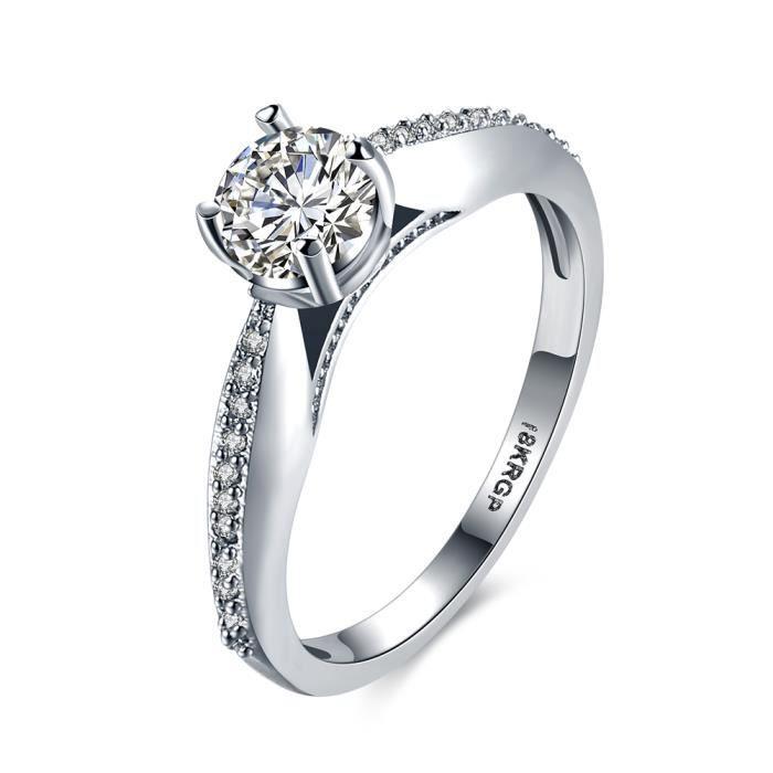 CZ Diamant Pour Toujours De Mariage Anneaux anel Argent Couleur ...