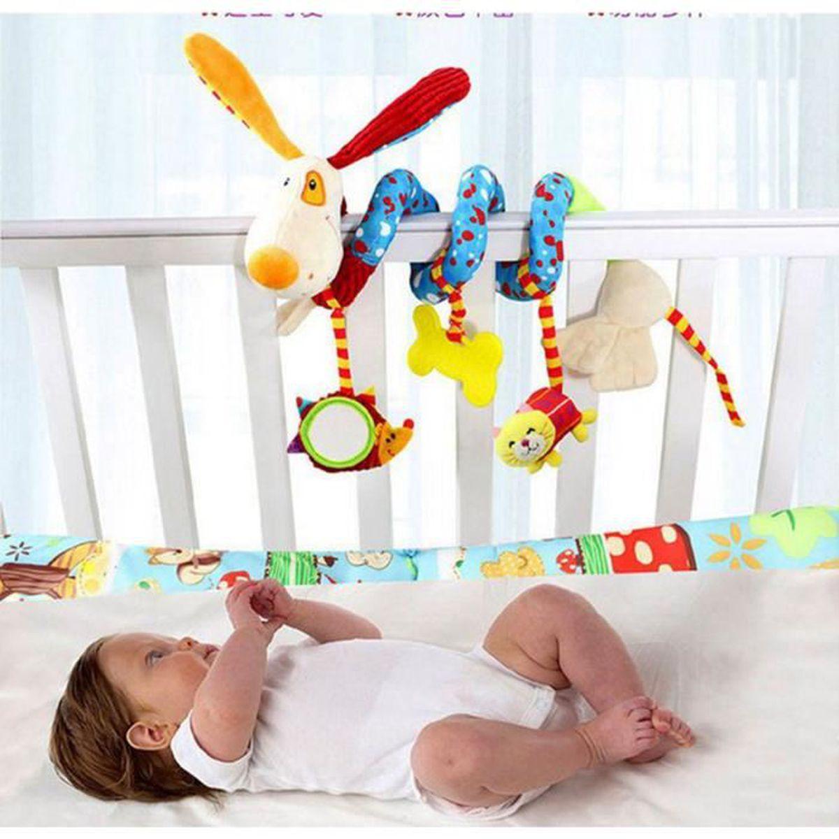 spirale d 39 activit s b b jouet spiraloo chien bleu bleu achat vente spirale tortillon. Black Bedroom Furniture Sets. Home Design Ideas