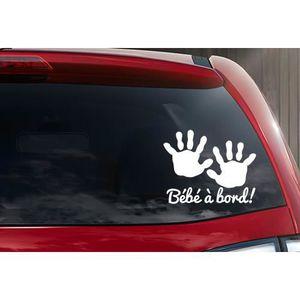 BÉBÉ À BORD  Sticker autocollant bébé à bord petite main bébé