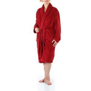 Peignoir microfibre - Femme - Rouge