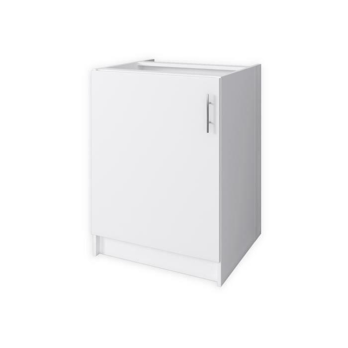 Obi meuble bas de cuisine 60 cm blanc mat achat for Meuble bas 30 cm cuisine