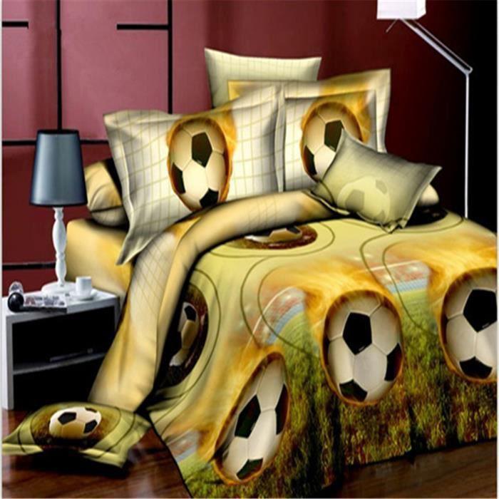 parure de couette parure de lit mod le 3d football 1. Black Bedroom Furniture Sets. Home Design Ideas