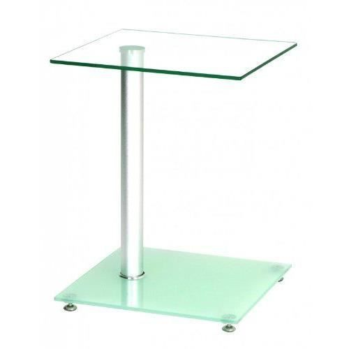 Haku m bel 33705 table basse d 39 appoint verre tremp for Table d appoint verre