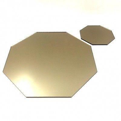 6 miroir de bronze napperons et sous verres octogo achat for Miroir 40x150