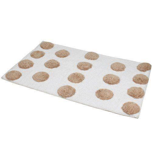 jvl pebble tapis de bain lavable en machine motif pois. Black Bedroom Furniture Sets. Home Design Ideas