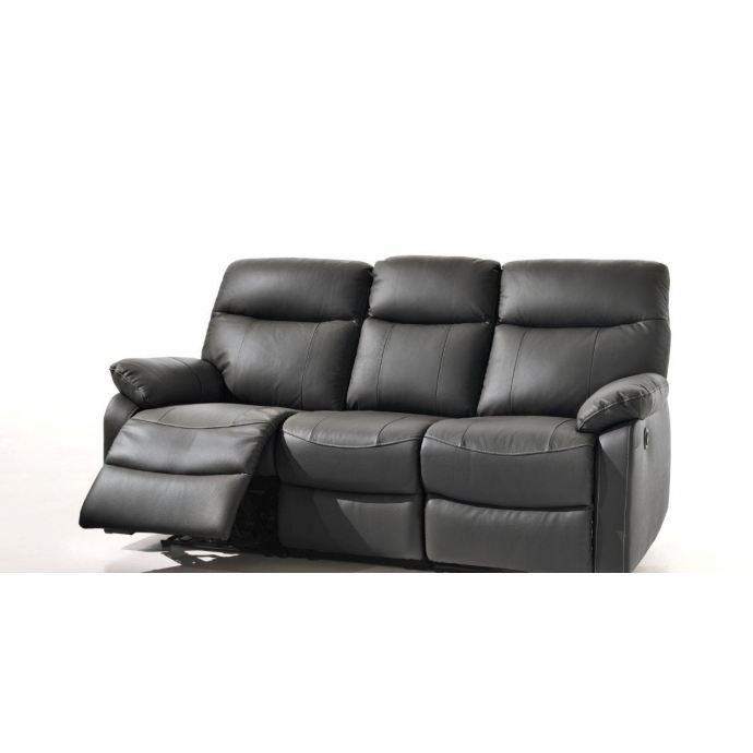 canap cuir relax lectrique achat vente canap sofa divan cuir pu pin bois. Black Bedroom Furniture Sets. Home Design Ideas