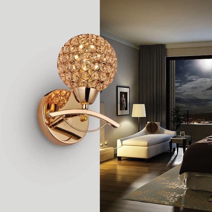 Applique luminaire culot e14 ac 220v cristal murale for Luminaire de salle a diner