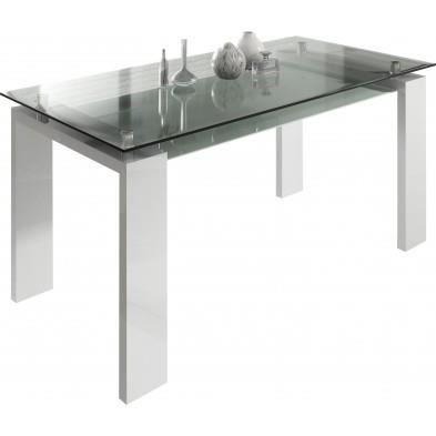 Table design de salle manger 160 cm en verre modele riva for Salle a manger riva