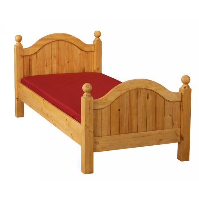 lit pin massif 90cm double t te de lit couleurs des alpes. Black Bedroom Furniture Sets. Home Design Ideas