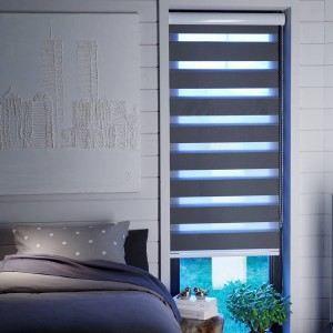 store enrouleur jour nuit gris tamisant achat vente. Black Bedroom Furniture Sets. Home Design Ideas