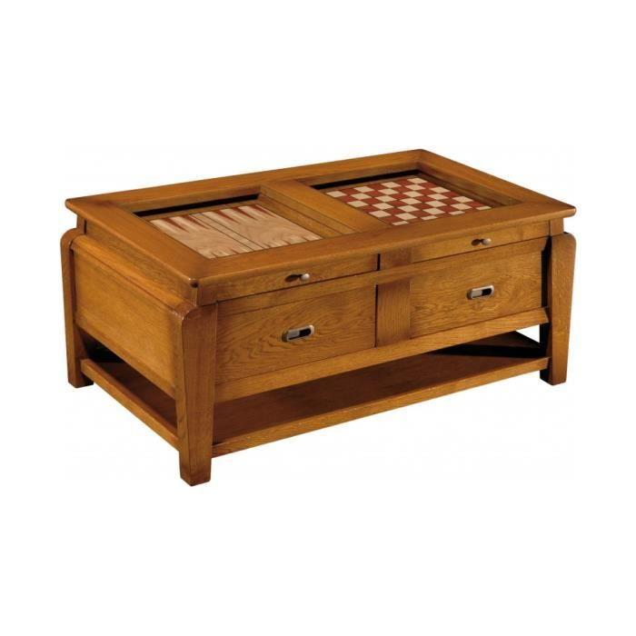 table basse jeux 2 tiroirs 2 plateaux achat vente table basse table basse jeux 2 tiroirs. Black Bedroom Furniture Sets. Home Design Ideas