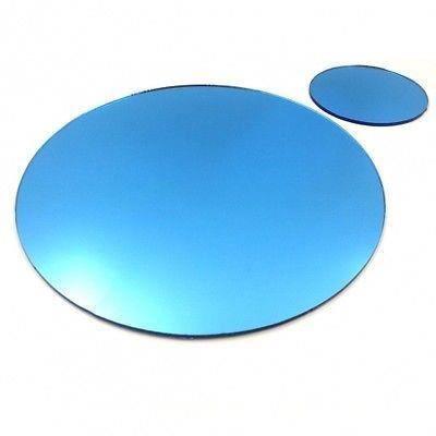 6 napperons bleus cercle de miroir et sous verres achat for Miroir acrylique incassable