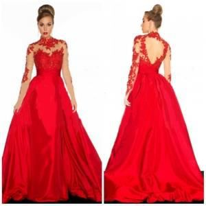 Robe rouge noel soiree mariage taille xl satin rouge for Robes de noel uk