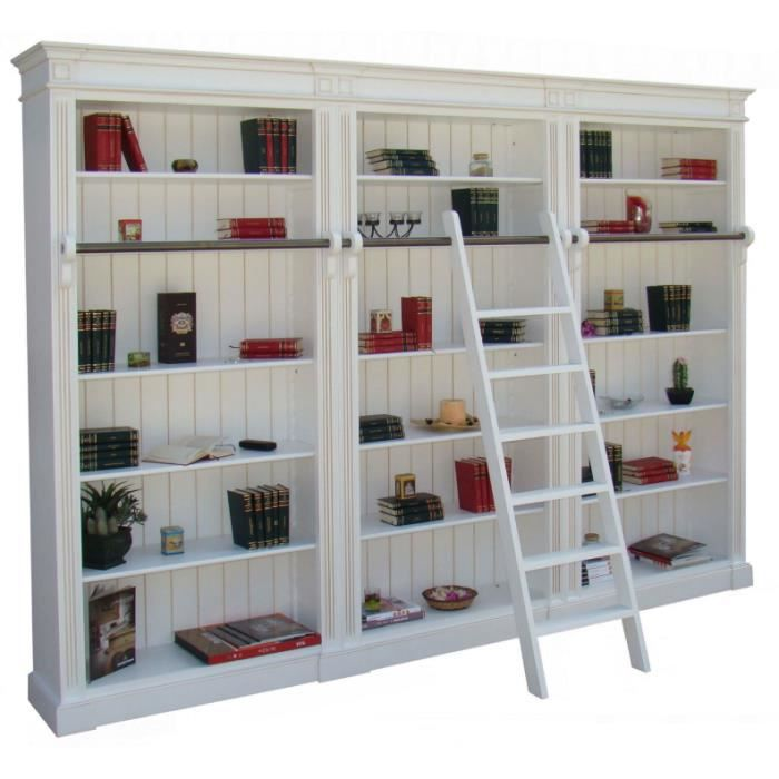 Biblioth que bois massif 15 tag res 304x40x230 achat vente biblioth que - Bibliotheque couleur taupe ...