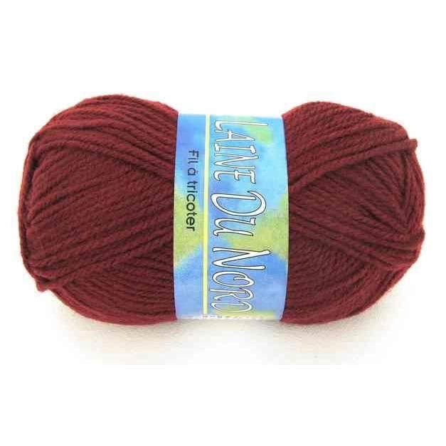 Pelote de laine laine du nord acrylique bordeaux achat - Les differents types de laine ...