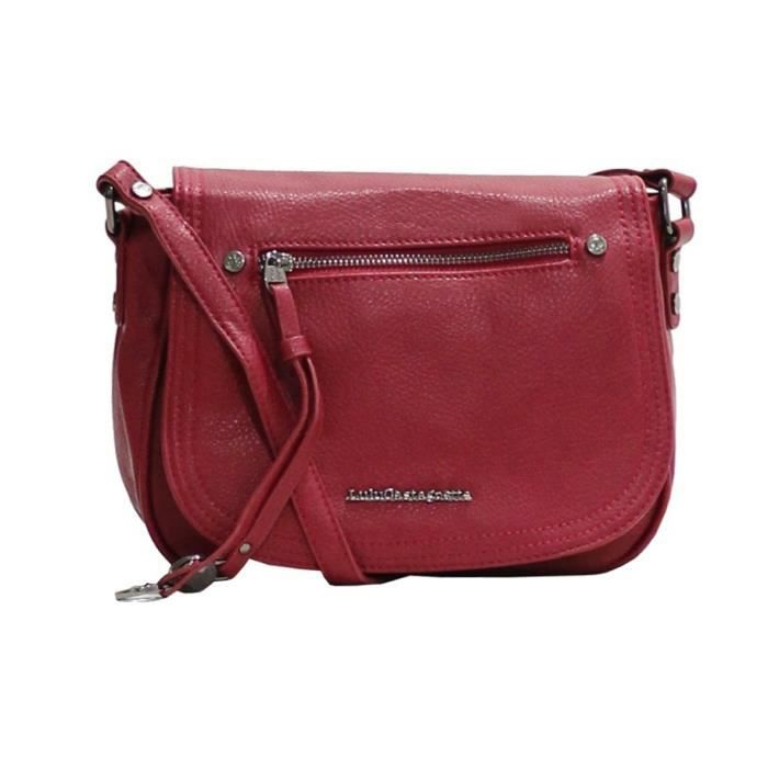 bagages sacs maroquinerie sac bandouliere lulu castagnette damien rouge f  lul