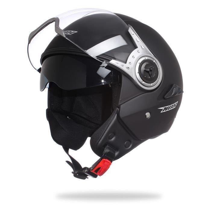 casque jet nox n123 noir mat achat vente casque moto scooter casque jet nox n123 noir ma. Black Bedroom Furniture Sets. Home Design Ideas